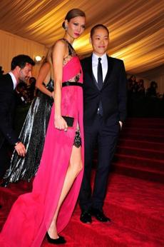 Model Karlie Kloss and Wu at the Costume Institute Gala held at the Metropolitan Museum of Art in New York in 2012.
